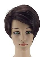 economico -hairjoy Donna Parrucche sintetiche Pantaloncini Dritto Marrone scuro Parte laterale Parrucca naturale Parrucca per travestimenti