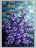 economico -Dipinta a mano Floreale/Botanical Verticale,Modern Tela Hang-Dipinto ad olio Decorazioni per la casa Un Pannello