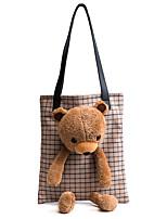 cheap -Women Bags Denim Shoulder Bag Zipper for Outdoor Office & Career All Season Coffee Almond Gray