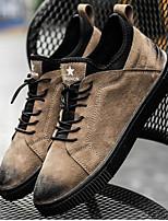 Недорогие -Для мужчин обувь Свиная кожа Весна Осень Удобная обувь Кеды для Повседневные Черный Серый Коричневый
