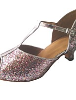 cheap -Women's Latin Sparkling Glitter Sandal Indoor Customized Heel Rainbow / Customizable