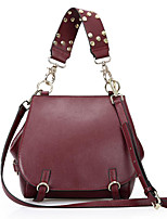 Women Bags Cowhide Cotton Shoulder Bag Zipper for Casual All Season Wine Brown Gray Black