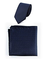 cheap -Men's Polyester Necktie,Simple Casual Dots All Seasons Blue