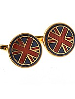 cheap -Circle Golden Cufflinks Copper Fashion Ethnic Wedding Daily Men's Costume Jewelry