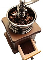 cheap -Classical Wooden Manual Coffee Grinder Stainless Steel Retro Coffee Spice Mini Burr Mill