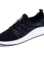 Недорогие -Для мужчин обувь Тюль Весна Осень Удобная обувь Кеды для Повседневные Черный Серый