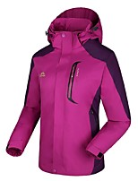 cheap -Women's Hiking 3-in-1 Jackets Outdoor Winter Windproof Winter Jacket 3-in-1 Jacket Full Length Visible Zipper Camping / Hiking Cycling