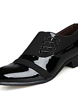 cheap -Men's Shoes PU Patent Leather Spring Fall Formal Shoes Comfort Oxfords for Casual Black