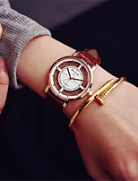 Недорогие -Муж. Жен. Спортивные часы Модные часы Часы со скелетом Китайский Кварцевый Секундомер Повседневные часы Кожа Группа На каждый день Черный