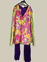 cheap -Hippie Costume Men's Blouse/Shirt Pants Purple Vintage Cosplay Polyester Long Sleeves Bell Briefs