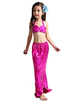 cheap -The Little Mermaid Swimwear Bikini Kid Christmas Masquerade Festival / Holiday Halloween Costumes Red Blue Solid