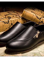 Недорогие -Для мужчин обувь Полиуретан Весна Осень Удобная обувь Туфли на шнуровке для Повседневные Белый Черный Желтый