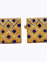 cheap -Envelope / Rectangular Golden Cufflinks Fashion Dresswear Daily Formal Men's Costume Jewelry