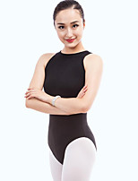 cheap -Ballet Leotards Women's Performance Cotton Pattern / Print Sleeveless Natural Leotard