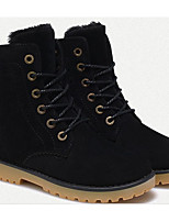 cheap -Unisex Shoes Nubuck leather Spring Fall Fluff Lining Combat Boots Comfort Boots Mid-Calf Boots for Casual Black Blue Khaki