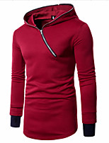 cheap -Men's Casual/Daily Simple Hoodie Print Hooded Micro-elastic Cotton Long Sleeve Winter Spring/Fall