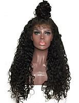 Недорогие -жен. Парики из натуральных волос на кружевной основе Бразильские волосы Натуральные волосы Бесклеевая кружевная лента 130% плотность С