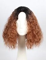 Mujer Pelucas sintéticas Corto Ondulado castaño medio Parte lateral Peluca afroamericana Corte Bob Peluca de cosplay Peluca natural