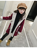 cheap -Girls' Solid Jacket & Coat Wine Blushing Pink