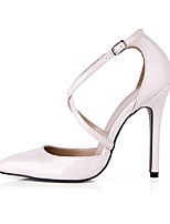 cheap -Women's Shoes PU Summer Ankle Strap Heels Stiletto Heel Pointed Toe for Wedding Party & Evening Light Pink Black