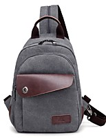 cheap -Unisex Bags Canvas Shoulder Bag Zipper for Casual All Season Khaki Coffee Gray Black