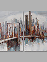 cheap -Hand-Painted Landscape Vertical,Modern Canvas Oil Painting Home Decoration Two Panels