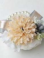 """abordables -flores de la boda ramilletes de la muñeca fiesta de boda noche poliéster 3.15 """"(aprox.8cm)"""