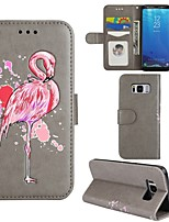cheap -Case For Samsung Galaxy S8 Plus S8 Card Holder Wallet with Stand Flip Full Body Flamingo Hard PU Leather for S8 Plus S8 S7 edge S7 S6