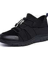 Недорогие -Для мужчин обувь Кожа Весна Осень Удобная обувь Ботильоны Ботинки Ботинки для Повседневные Черный