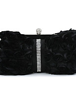 cheap -Women Bags Silk Evening Bag Sequins for Event/Party All Season Black White