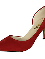 Women's Shoes Nubuck leather Spring Fall Basic Pump Comfort Heels Stiletto Heel for Casual Almond Blue Green Red Black