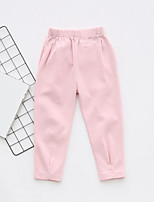 cheap -Girls' Solid Pants,Acrylic Winter Fall Simple Black Blushing Pink