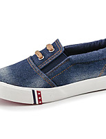 cheap -Girls' Shoes Denim Winter Fall Comfort Loafers & Slip-Ons Walking Shoes Stitching Lace for Casual Dark Blue Light Blue