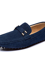 cheap -Men's Shoes Cowhide Spring Fall Comfort Loafers & Slip-Ons for Casual Light Blue Brown Dark Blue Black