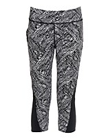 cheap -Women's Running 3/4 Capri Pants Breathability 3/4 Tights Pants / Trousers Yoga Running/Jogging Polyester Tight Grey Black L M S