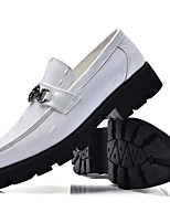 cheap -Men's Shoes PU Spring Fall Comfort Loafers & Slip-Ons for Casual Red Black White