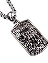 cheap -Men's Skull Rock Hiphop Pendant Necklace Chain Necklace , Alloy Pendant Necklace Chain Necklace , Date Holiday