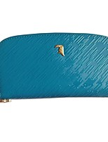 cheap -Women Bags Cowhide Clutch Zipper for Casual Office & Career All Season Blue