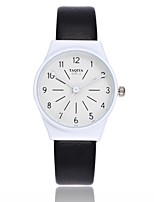 cheap -Women's Casual Watch Chinese Quartz Casual Watch PU Band Casual Colorful Minimalist Black White Grey