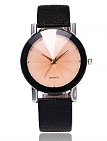 cheap -Men's Women's Casual Watch Fashion Watch Wrist watch Chinese Quartz Large Dial PU Band Casual Black