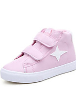 cheap -Girls' Shoes PU Winter Fall Comfort Sneakers Walking Shoes Magic Tape for Casual White Black Pink