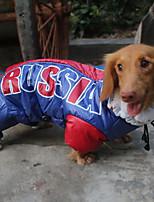 preiswerte -Katze Hund Mäntel Kapuzenshirts Regenmantel Overall Hundekleidung Lässig/Alltäglich warm halten Wasserdicht Sport Halloween Neujahr Druck