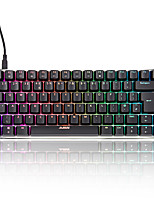AJAZZ AK33-UK Version Of The Red Axis Black Axis RGB Color Backlighting Game Mechanical Keyboard  83 Keys
