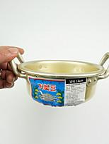 Stainless Steel Metal Alloy Flat Pan Multi-purpose Pot,14*6