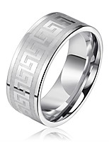 cheap -Men's Women's Band Rings Gothic Cool Stainless Steel Circle Jewelry For Ceremony Bar