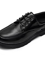cheap -Men's Shoes Nappa Leather Spring Fall Comfort Oxfords Booties/Ankle Boots Ribbon Tie for Outdoor Black