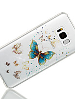 cheap -Case For Samsung Galaxy S8 Plus S8 IMD Pattern Back Cover Butterfly Glitter Shine Soft TPU for S8 Plus S8 S7 edge S7