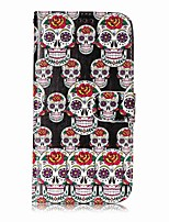 cheap -Case For Samsung Galaxy S8 Plus S8 Card Holder Wallet with Stand Full Body Skull Hard PU Leather for S8 Plus S8 S7 edge S7 S6 edge S6 S5