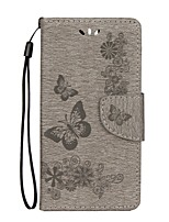 cheap -Case For Huawei Honor 5C Huawei Honor 9 Honor 8 Card Holder Wallet with Stand Flip Embossed Full Body Cases Butterfly Hard PU Leather for