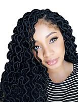 Недорогие -дредлоки 1pack Косы Кудрявый 45 см Африканские косички Синтетический Черный Волосы для кос Наращивание волос